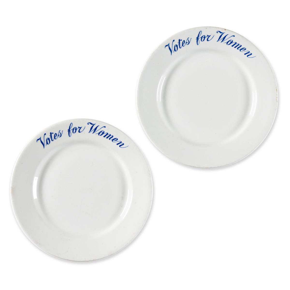 Votes for Women. Two China Bread-and-Butter Plates.
