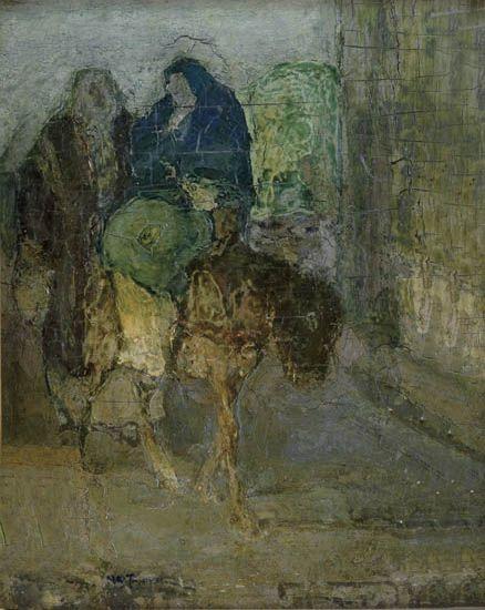 HENRY-OSSAWA-TANNER-(1859---1937)-Flight-Into-Egypt