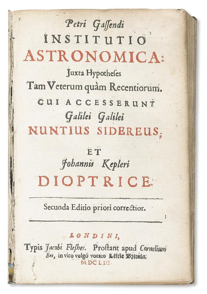GASSENDI-PIERRE;-GALILEI-GALILEO;-and-KEPLER-JOHANNES-Instit