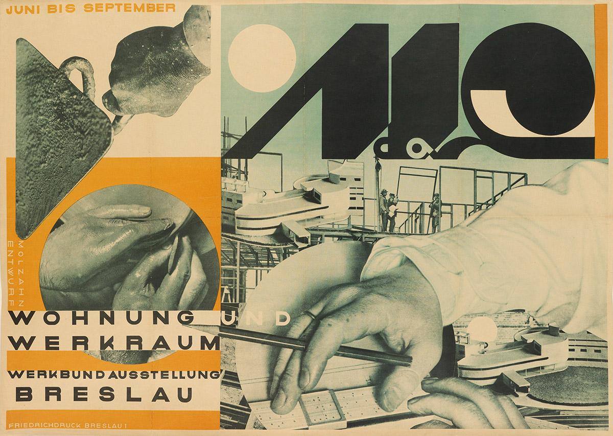 JOHANNES MOLZAHN (1892-1965).  WOHNUNG UND WERKRAUM. 1929. 23½x33 inches, 59¾x83¾ cm. Friedrichdruck, Breslau.