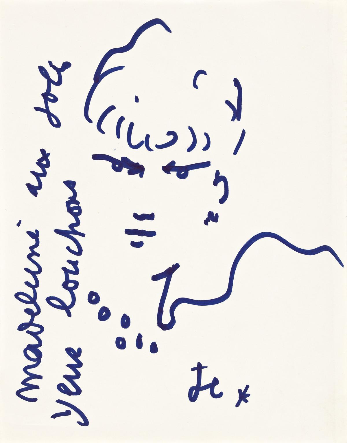 JEAN COCTEAU (1889-1963) Madeleine aux joli yeux louchons.