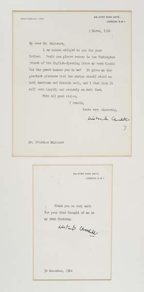 CHURCHILL-WINSTON-Typed-Letter-Signed