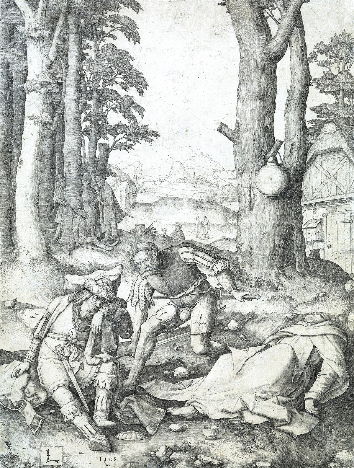LUCAS-VAN-LEYDEN-Mahomet-and-the-Monk-Sergius