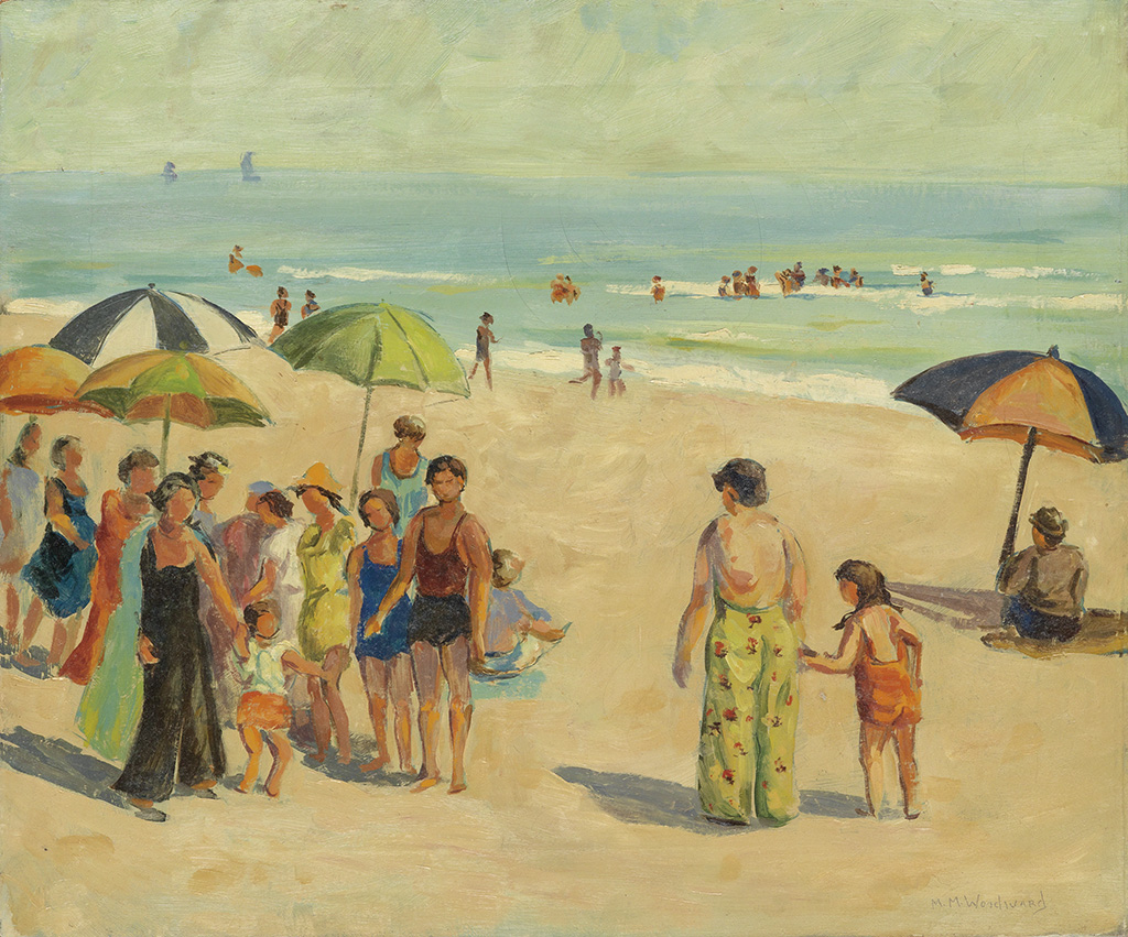 MABEL-MAY-WOODWARD-Beach-Scene-with-Bathers