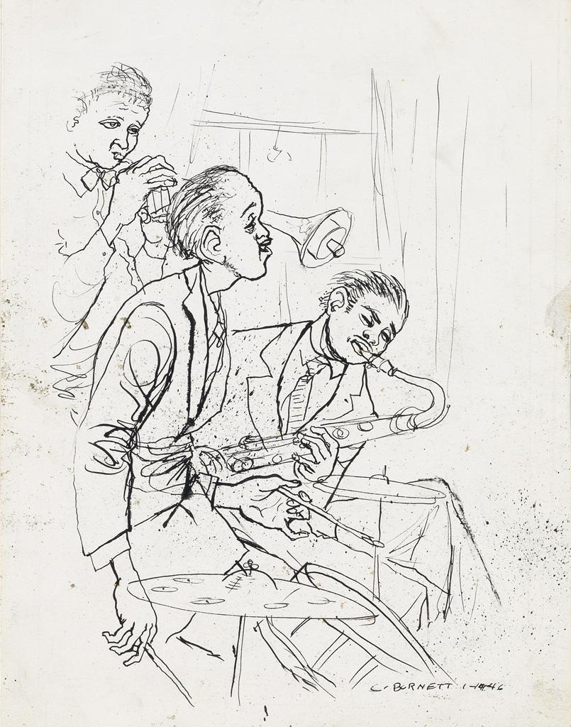 CALVIN BURNETT (1921 - 2007) Snare and Side Men.