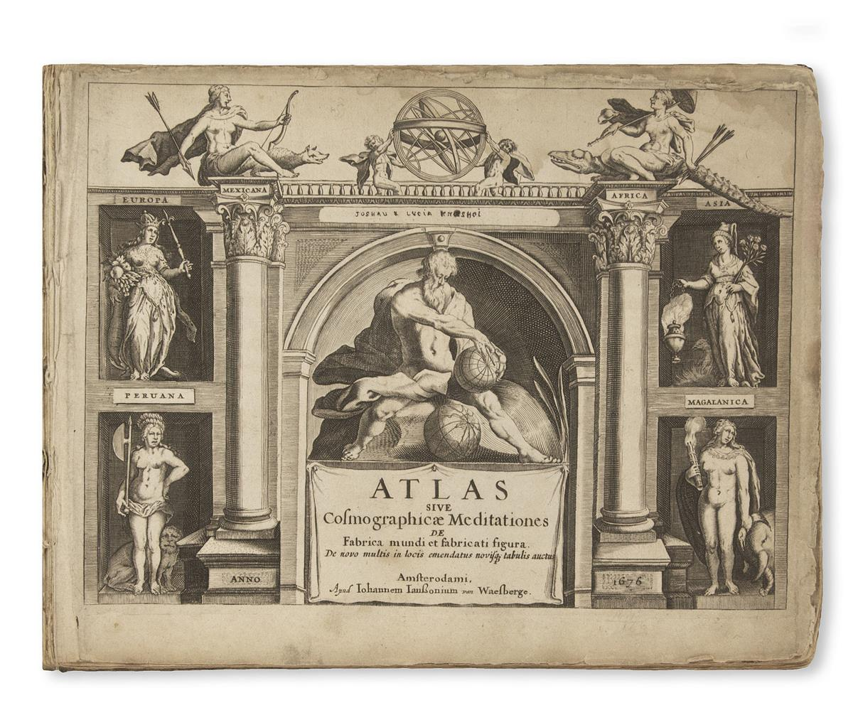 JANSSONIUS van WAESBERGE, JOHANNES; after MERCATOR, GERHARD. Atlas Sive Cosmographicae Meditationes de Fabrica Mundi