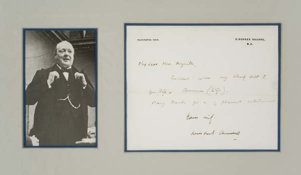 CHURCHILL-WINSTON-Autograph-Letter-Signed