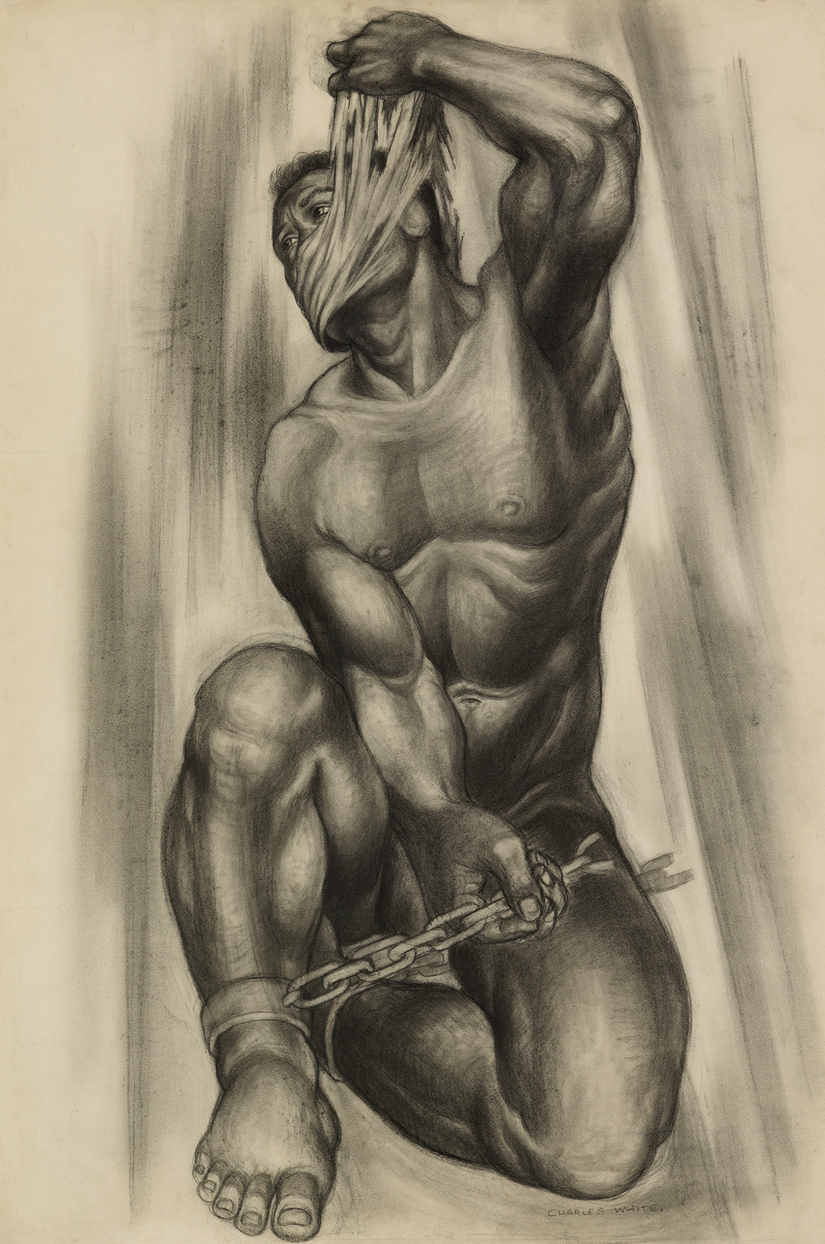 CHARLES WHITE (1918 - 1979) Caliban.