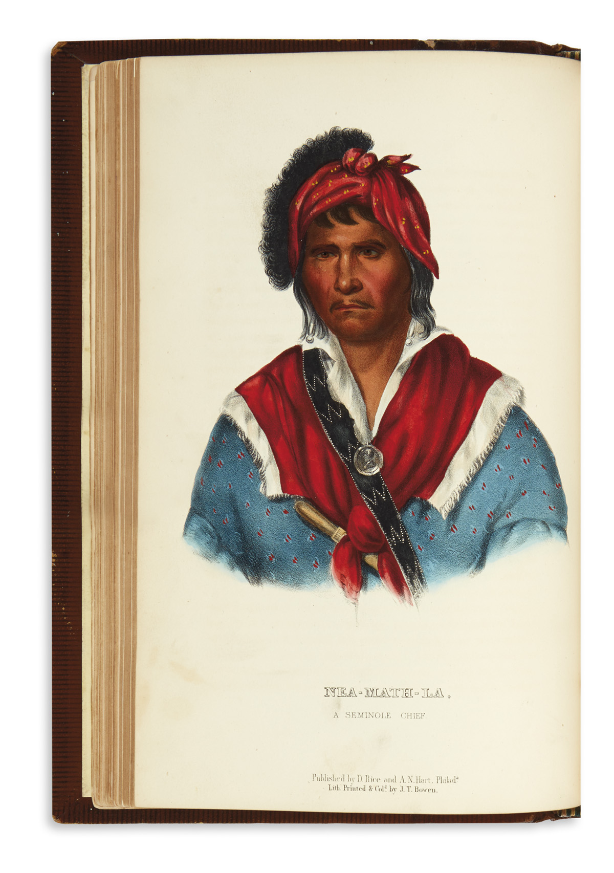 (AMERICAN-INDIANS)-McKenney-Thomas;-and-Hall-James-History-o