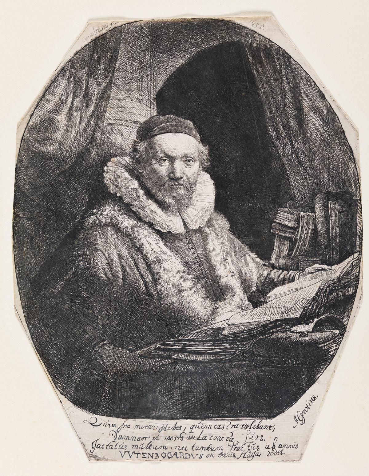 REMBRANDT VAN RIJN Jan Uytenbogaert, Preacher of the Remonstrants.