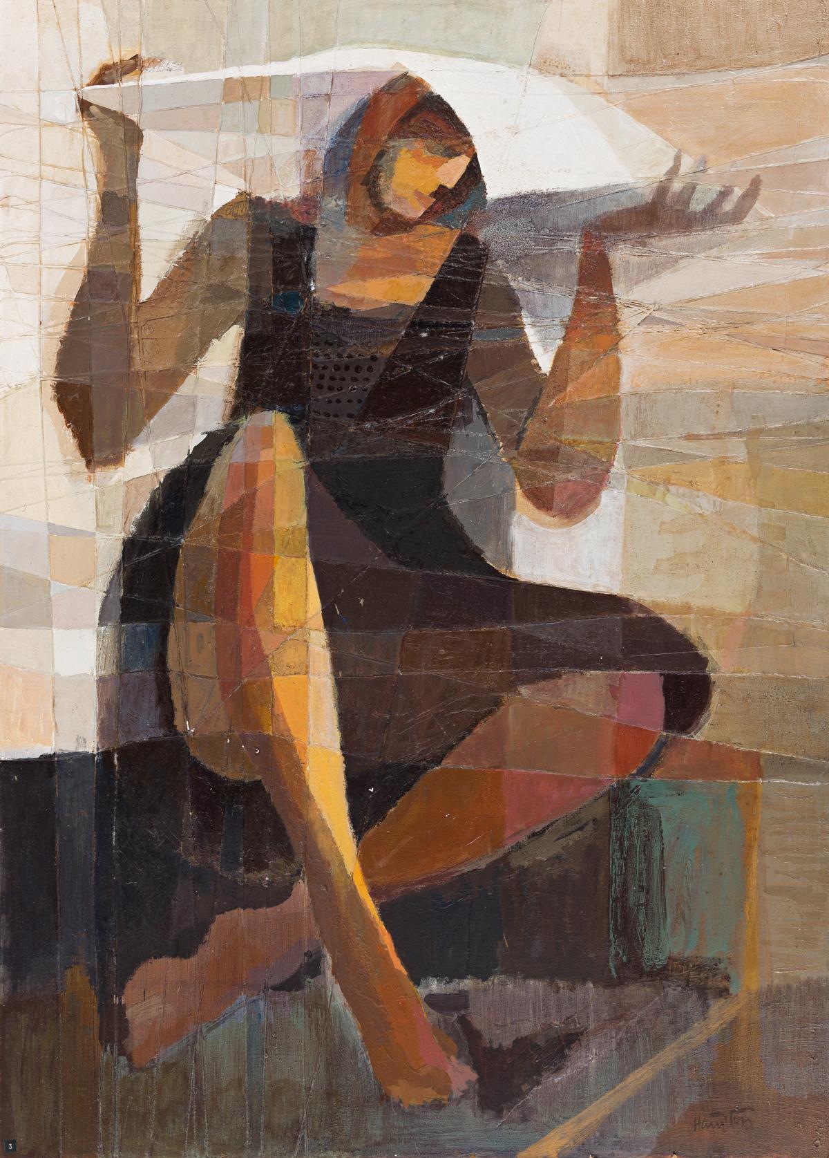 PHILLIP JEWEL HAMPTON (1922 - 2016) Untitled (Woman Covering Her Head).