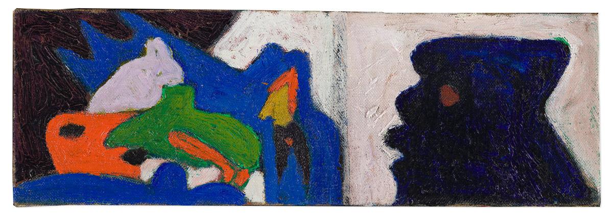 BOB THOMPSON (1937 - 1966) Untitled (Blue Figure in Profile).