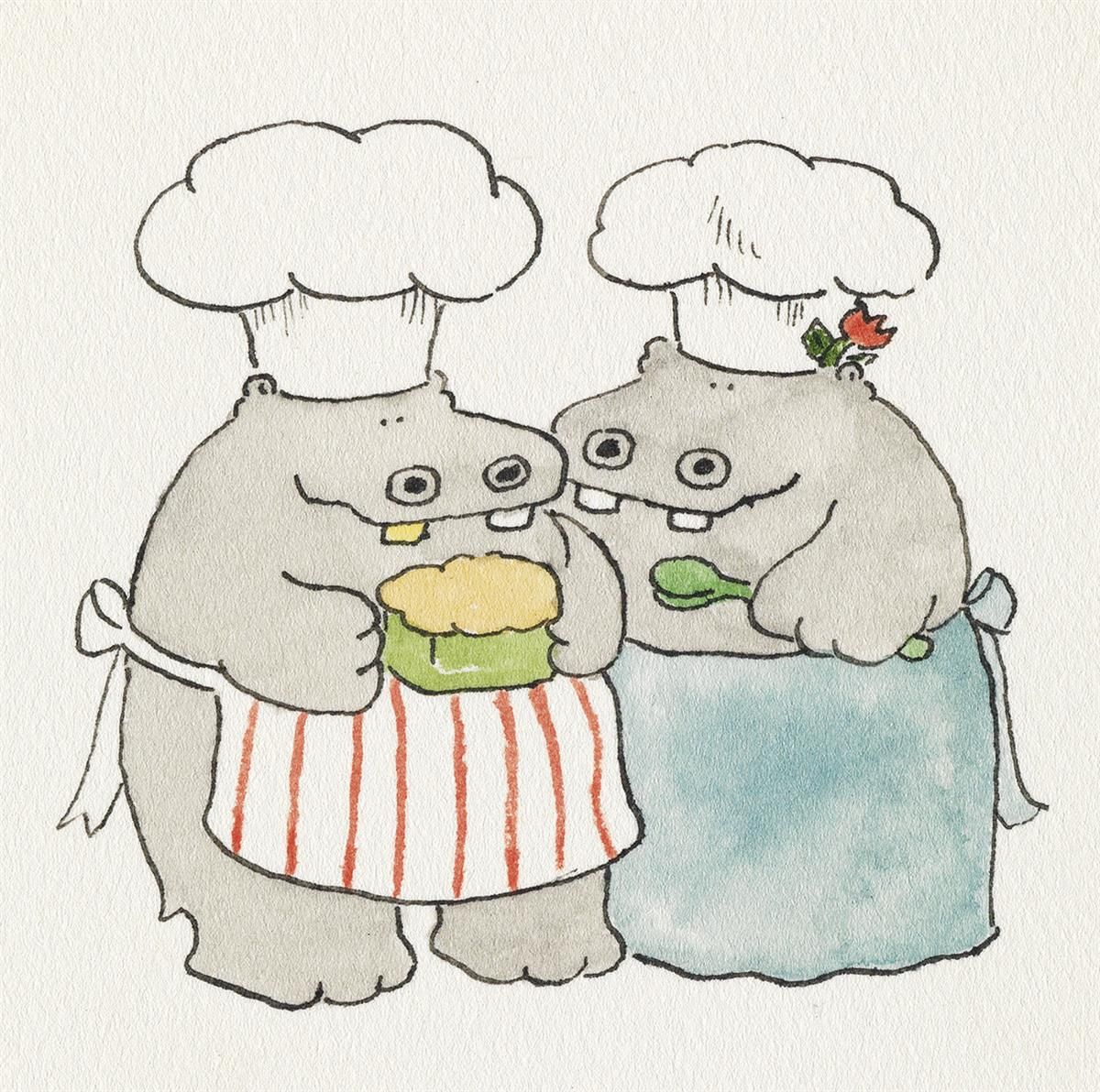 JAMES-MARSHALL--(HIPPOS)-George-and-Martha