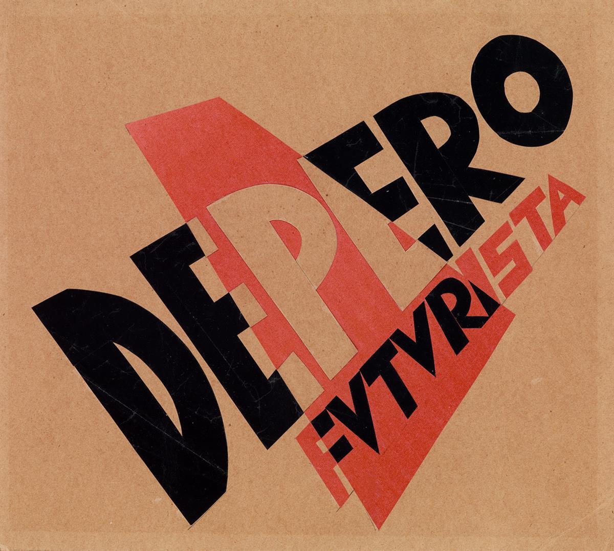 FORTUNATO DEPERO (1892-1960). FUTURISTA. Collage on paper. Circa 1927. 9x11 inches, 24x28 cm.