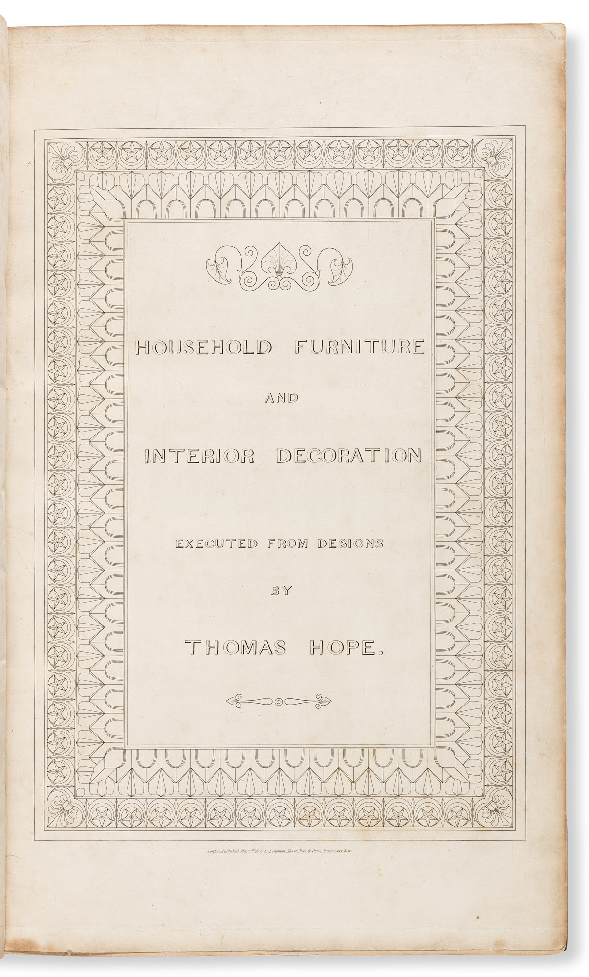 Hope, Thomas (1769-1831) Household Furniture and Interior Decoration.