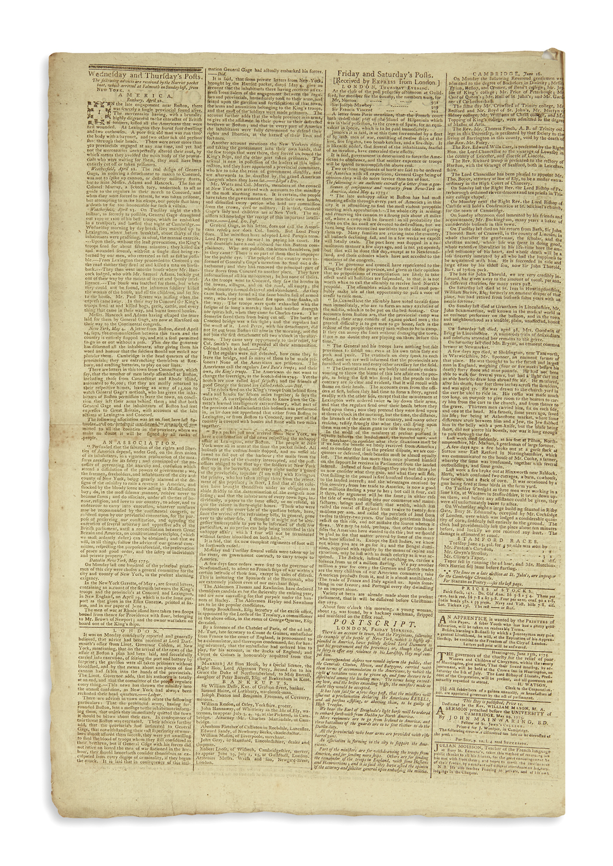 (AMERICAN-REVOLUTION--1775)-Issue-of-the-Cambridge-Chronicle