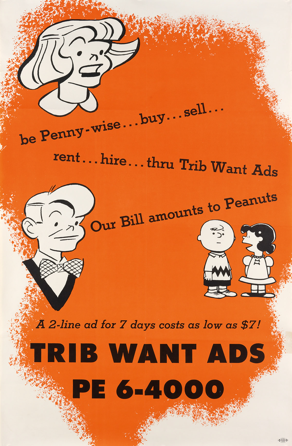 CHARLES-SCHULZ-(1922-2000)-BE-PENNY---WISE--OUR-BILL-AMOUNTS