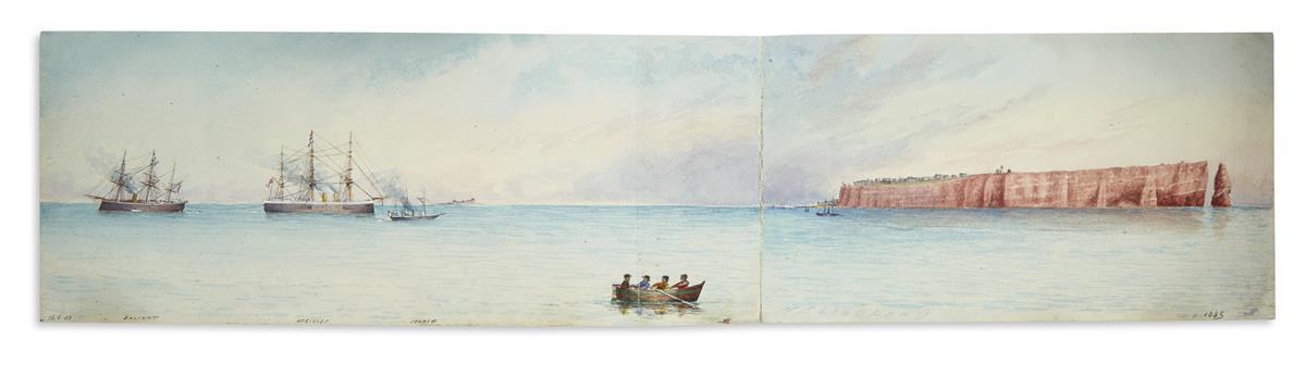 (ENGLISH-WATERCOLORS)-Group-of-nineteenth-century-marine-and
