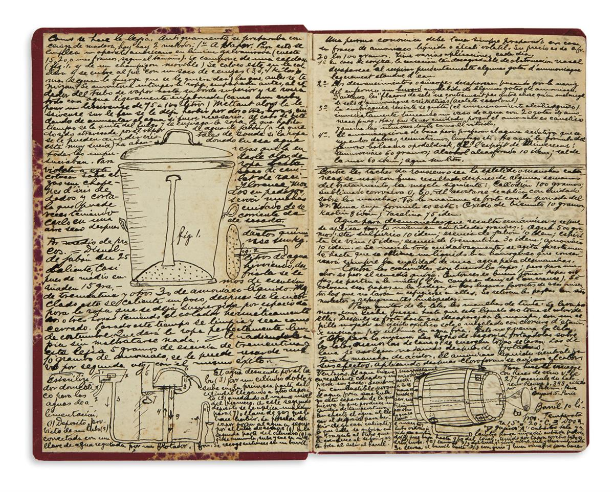 (MEXICAN-COOKERY)-Manuscript-cookbook-with-illustrations-of-