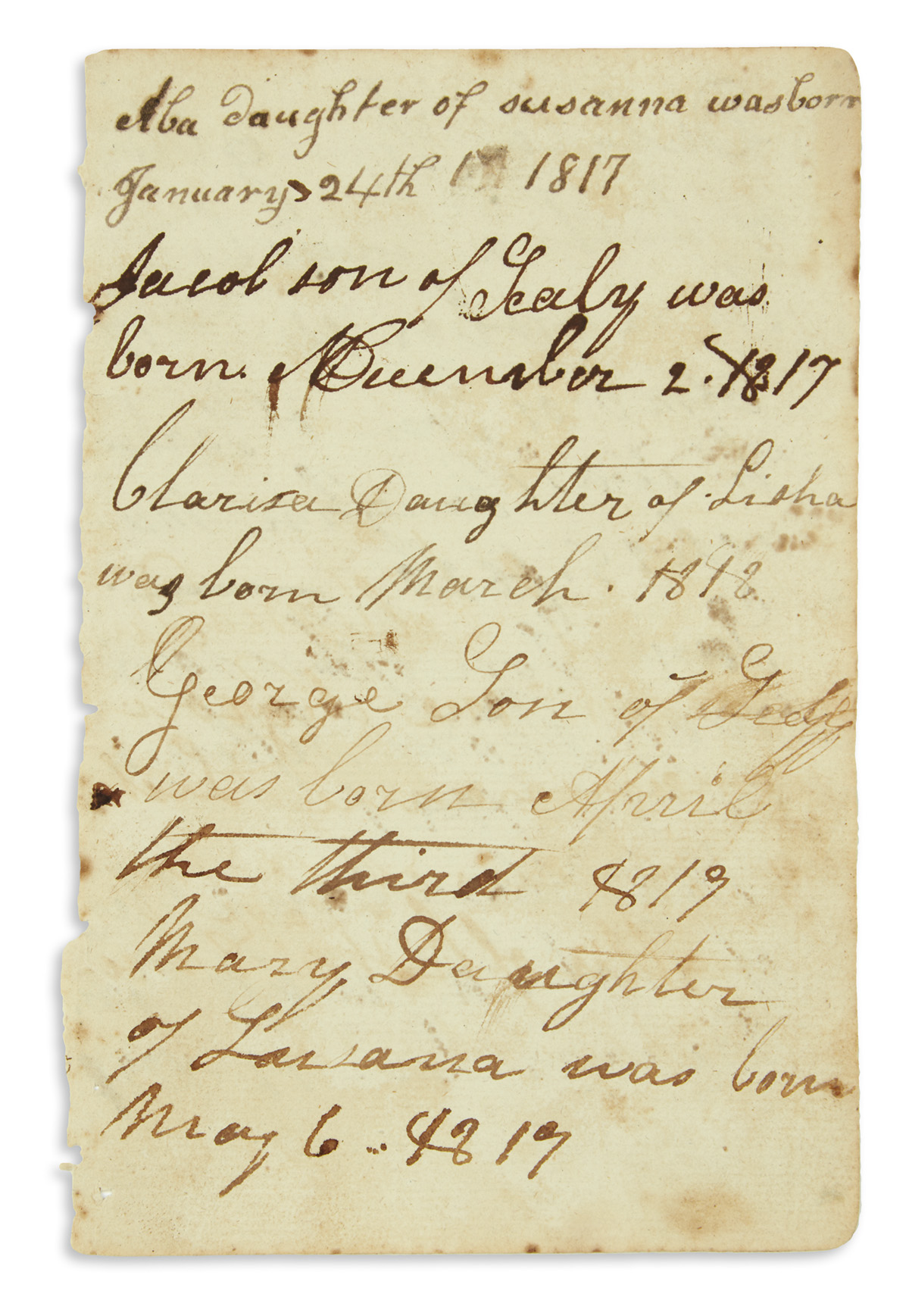 (SLAVERY-AND-ABOLITION)-Cayce-family-register-with-several-e