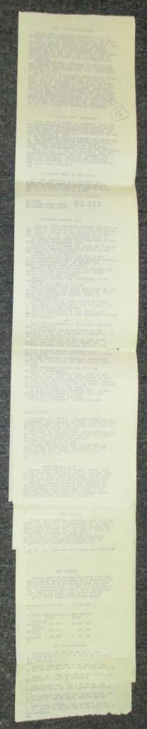 (KENNEDY, JOHN F.) Dow Jones News Service ticker from the Kennedy assassination.