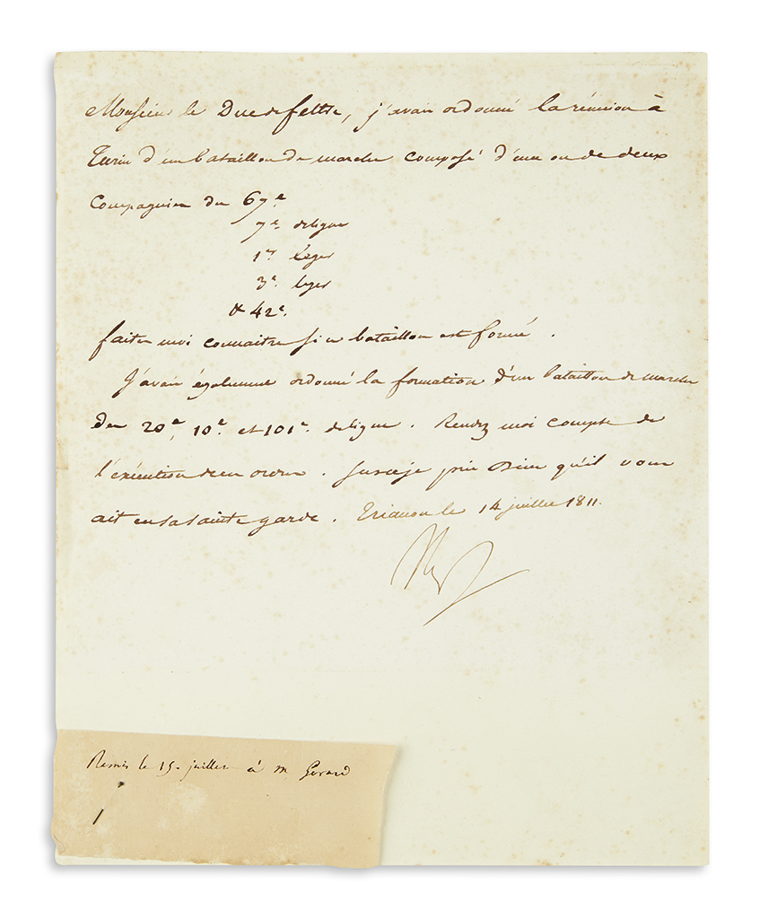 NAPOLÉON-Letter-Signed-Nap-to-his-Minister-of-War-the-Duc-de