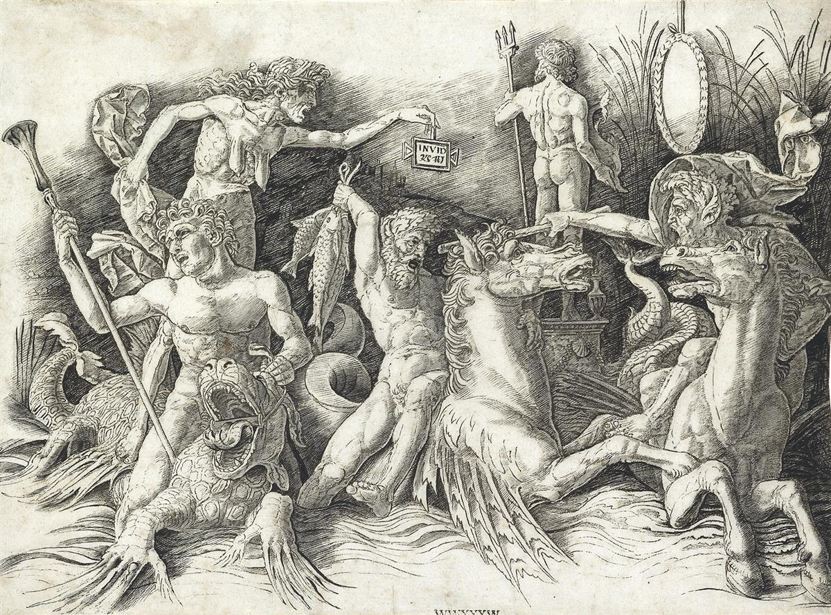 ANDREA-MANTEGNA-The-Battle-of-the-Sea-Gods-The-Left-Half-of-