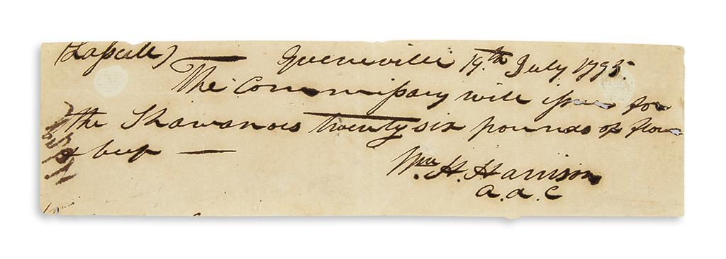 HARRISON-WILLIAM-HENRY-Autograph-Document-Signed-Wm-H-Harris