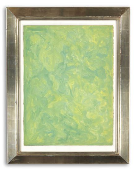BEAUFORD DELANEY (1901 - 1979) Untitled (Abstraction in Green).