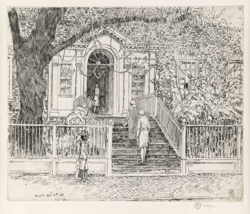 CHILDE-HASSAM-The-Chase-House-(Annapolis)