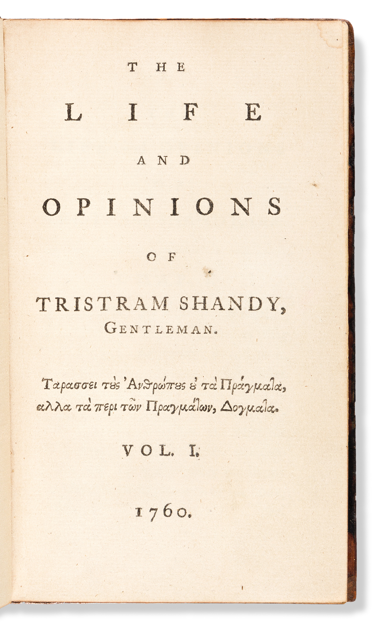 Sterne, Laurence (1713-1768) The Life and Opinions of Tristram Shandy, Gentleman.