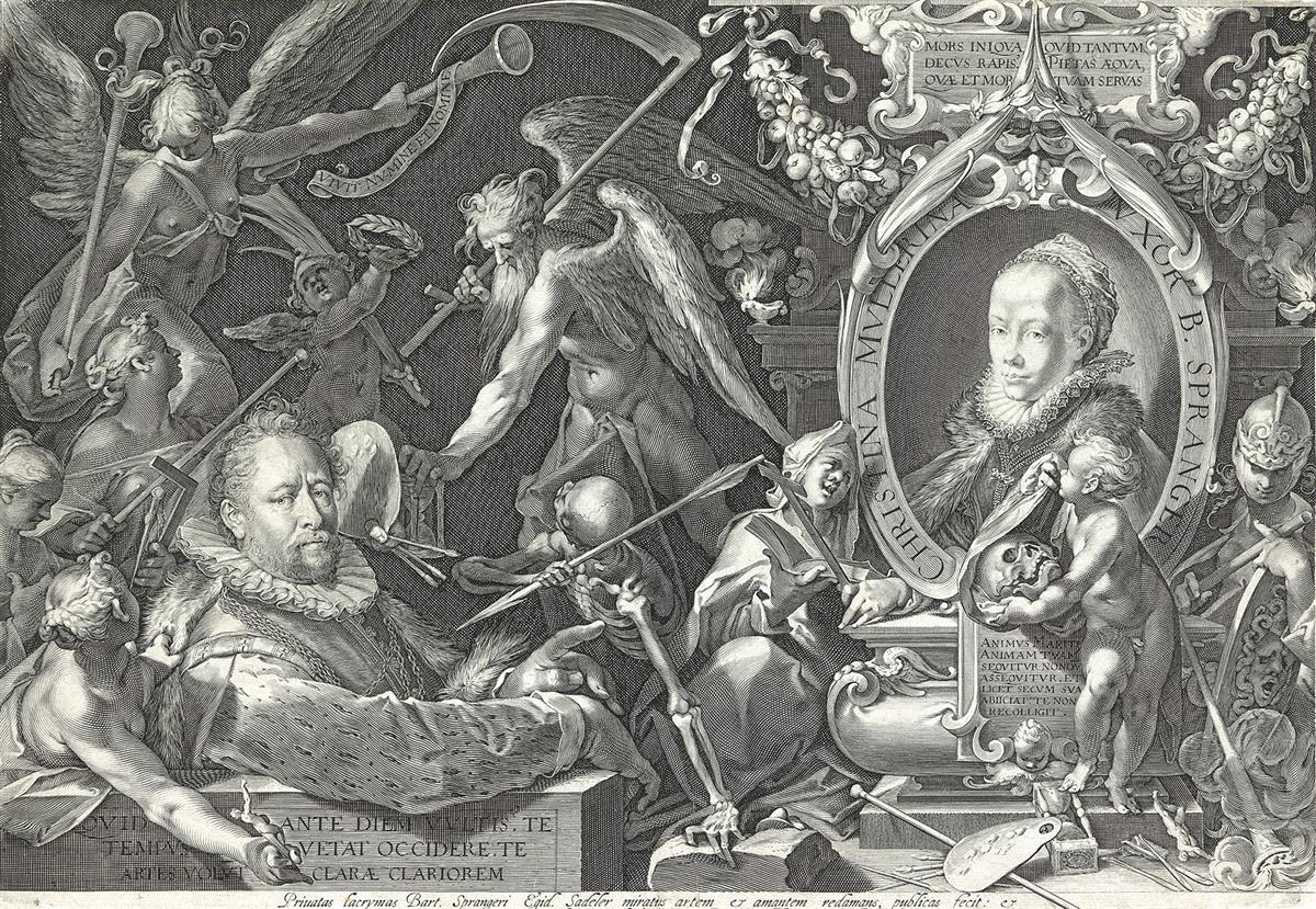 AEGIDIUS SADELER Bartholomaeus Spranger and his Wife Christina Muller.