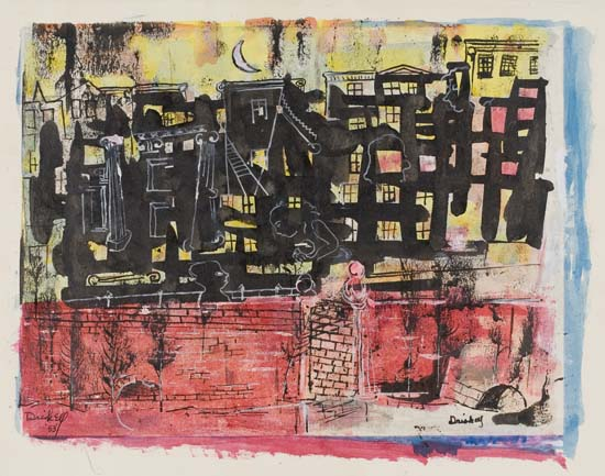 DAVID C. DRISKELL (1931 - ) Untitled (City Nocturnal).