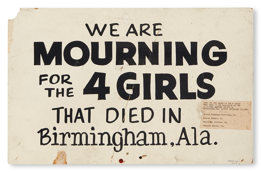 (CIVIL RIGHTS--ALABAMA.) We are MOURNING for the 4 GIRLS that died in Birmingham, Ala.