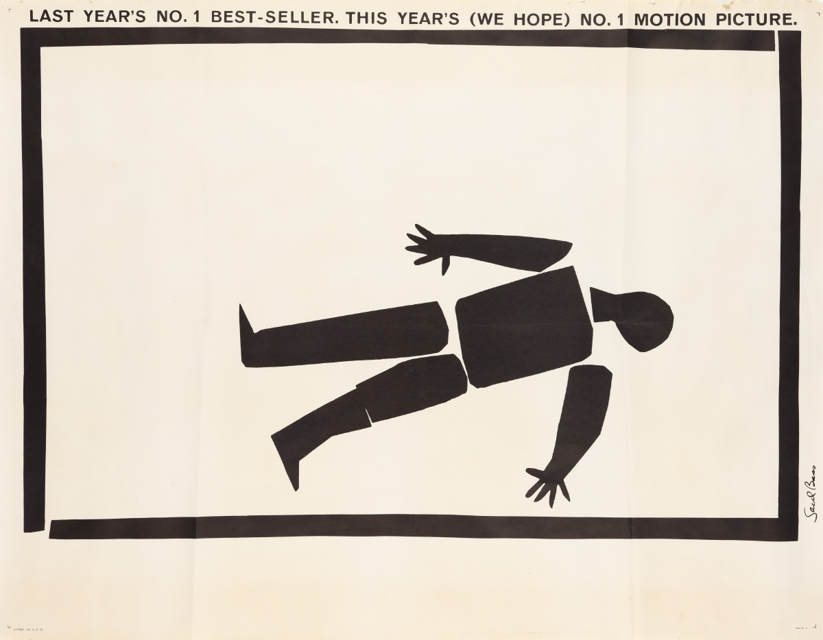 SAUL BASS (1920-1996). [ANATOMY OF A MURDER.] 1959. 45x58 inches, 115x149 cm.