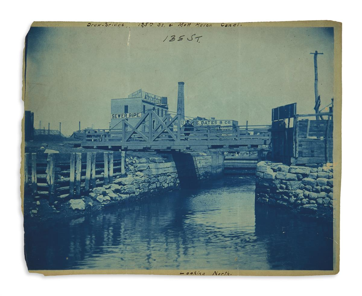 (NEW YORK CITY.) Collection of bridge construction and maintenance photographs.