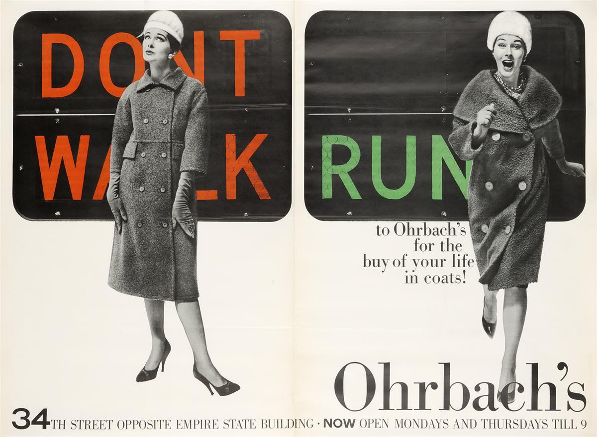 ROBERT-GAGE-(1921-2000)-DONT-WALK--RUN--OHRBACHS-Circa-1959-