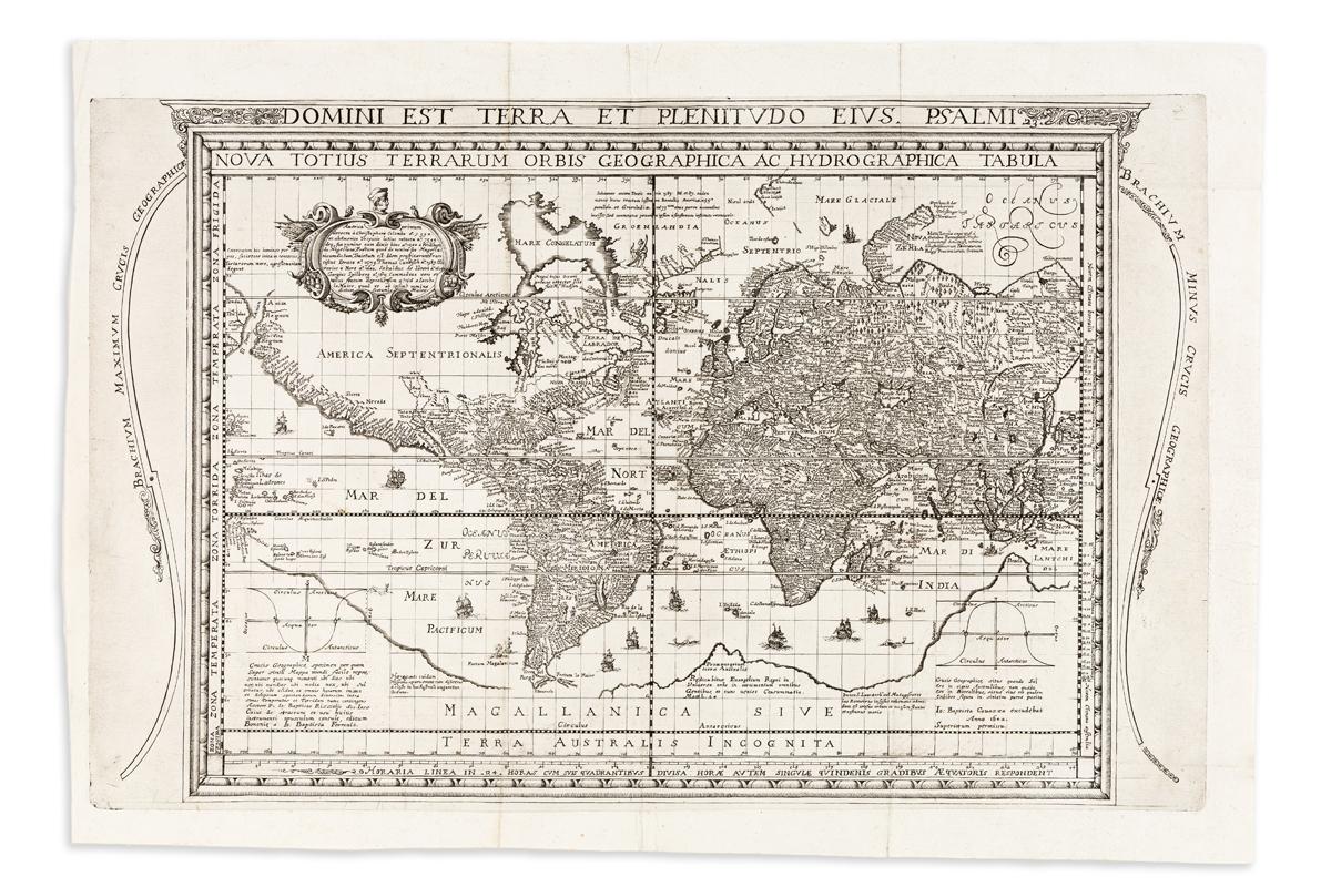 CAVAZZA, JOHANN BATTISTA. Nova Totius Terrarum Orbis Geographica Ac Hydrographica Tabula.
