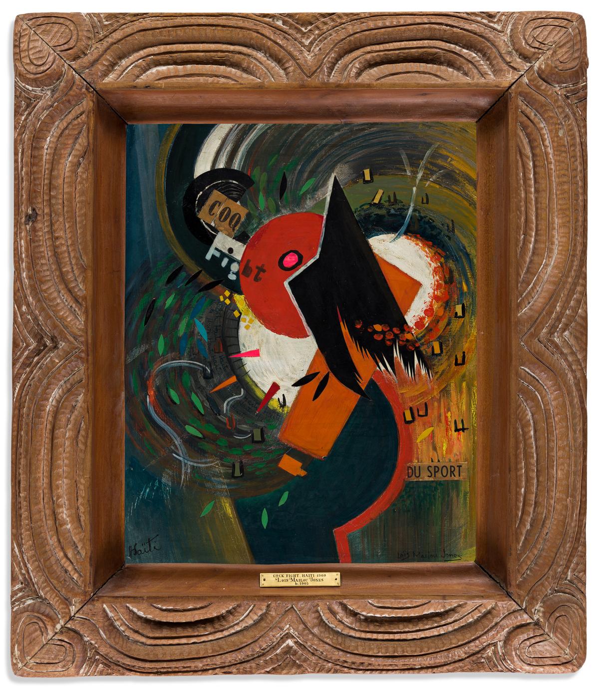 LOÏS MAILOU JONES (1905 - 1998) Cock Fight.