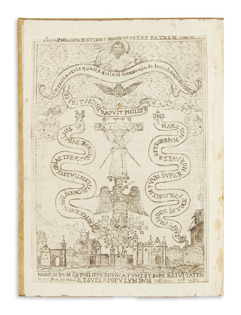 (MEXICAN IMPRINT--1683.) Medina, Baltasar de. Vida, martyrio, y beatificacion del invicto proto-martyr del Japon San Felipe de Jesus,