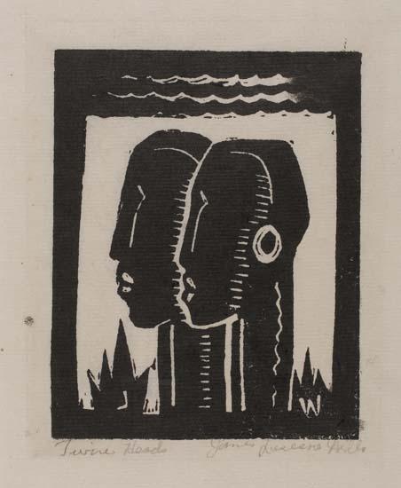 JAMES-LESESNE-WELLS-(1902-1995)-Twin-Heads