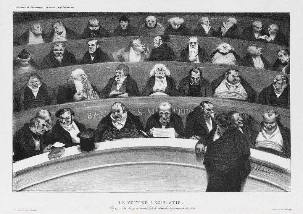 HONORÉ-DAUMIER-Le-Ventre-Législatif
