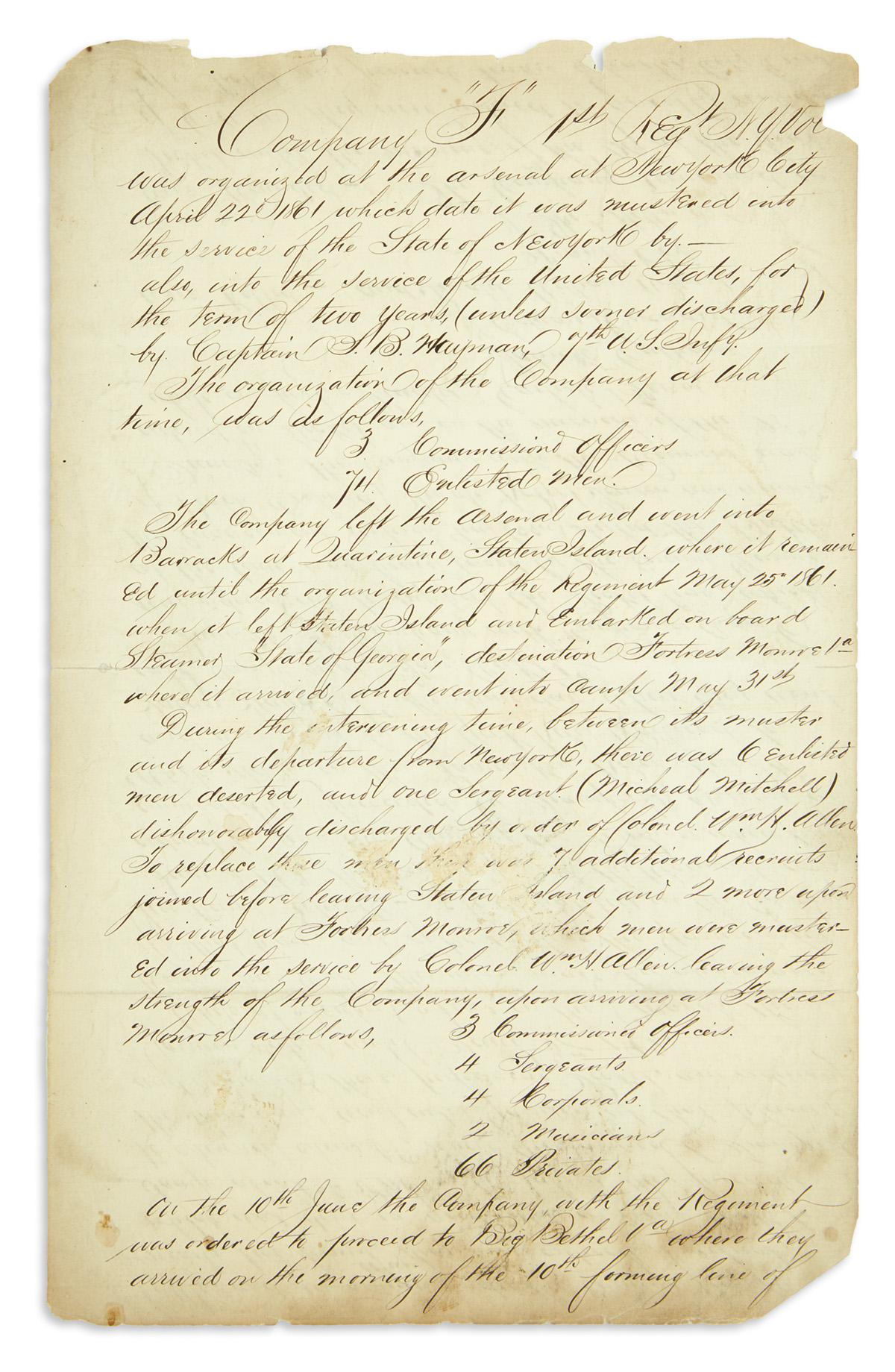 (CIVIL-WAR--NEW-YORK)-Manuscript-histories-of-two-companies-