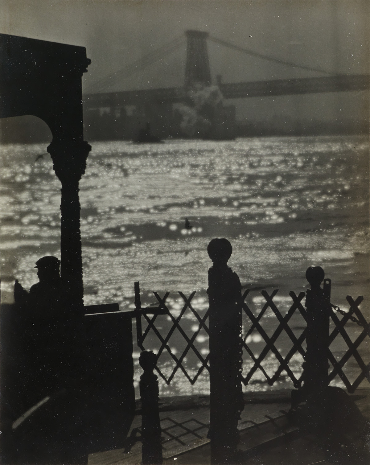 KARL-STRUSS-(1886-1981)-A-view-of-Brooklyn-Bridge-from-the-S