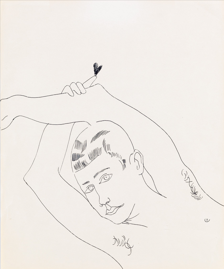 ANDY WARHOL Untitled (Young Man with Heart).