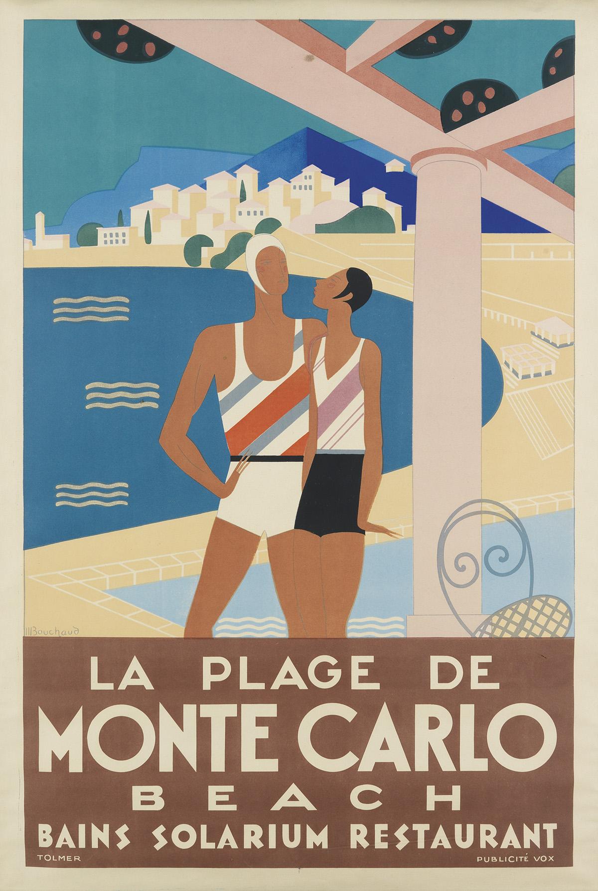 MICHEL-BOUCHAUD-(DATES-UNKNOWN)-LA-PLAGE-DE-MONTE-CARLO-1929