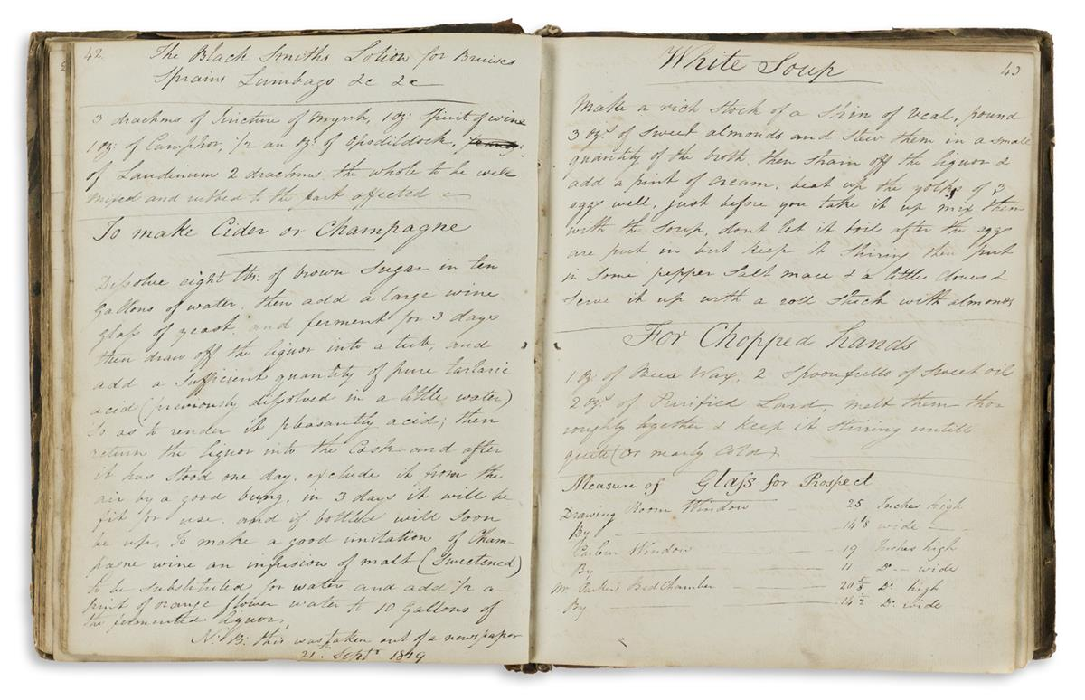 Manuscript Recipe Book.