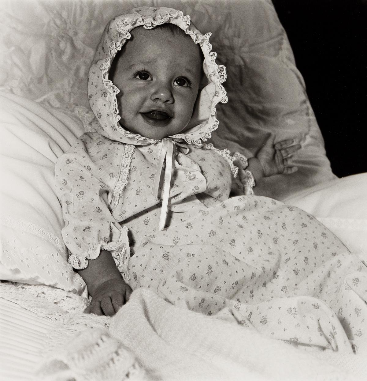 DIANE ARBUS (1923-1971)/NEIL SELKIRK (1947- ) Baby in a Lacy Bonnet, N.Y.C.