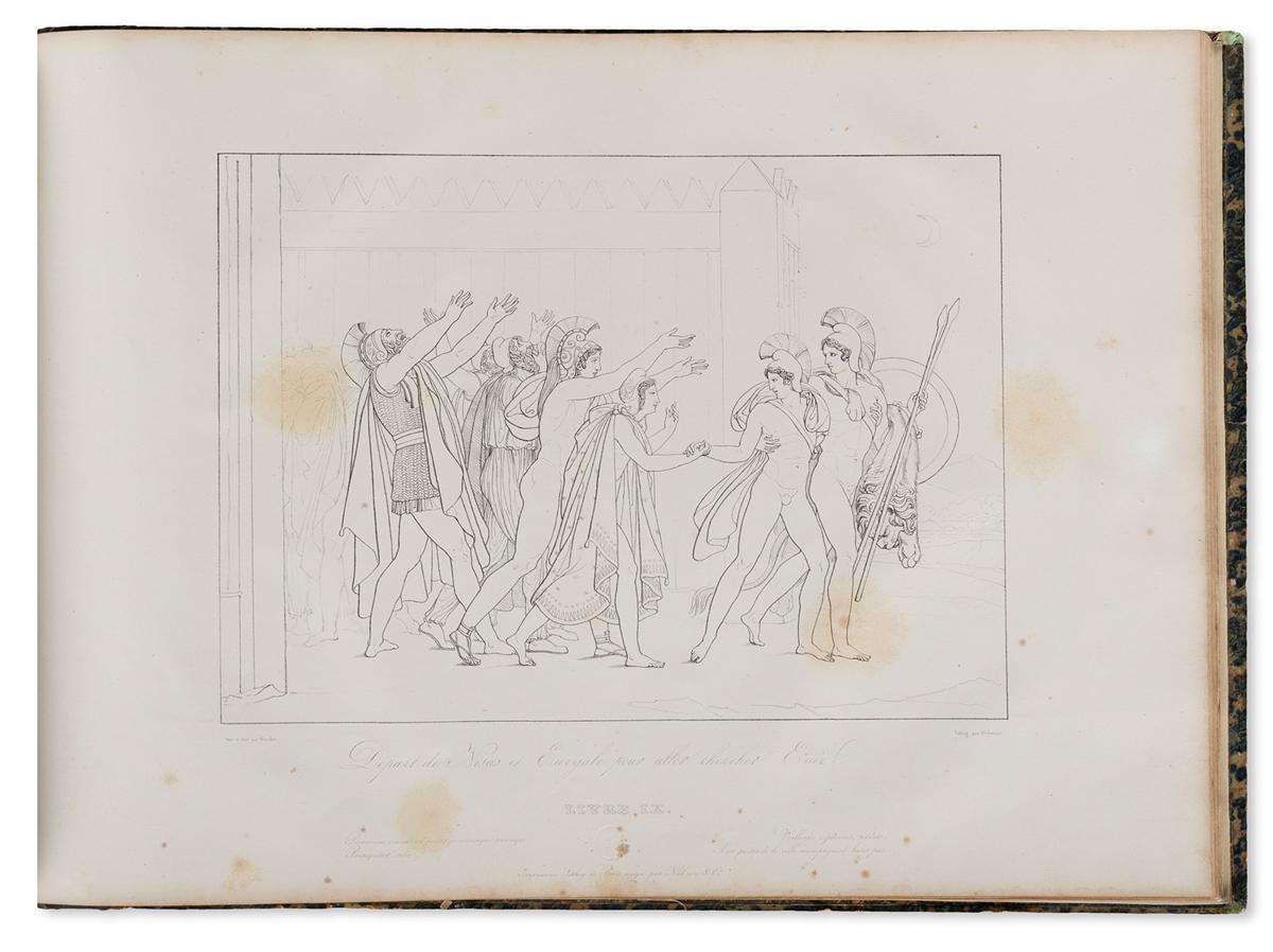 ANNE-LOUIS GIRODET DE ROUSSY-TRIOSON (1767-1824) Énéïde-- Suite de Compositions; [bound with] Compositions tirées des Géorgiques.