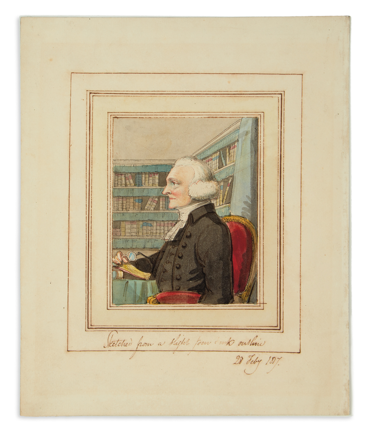 (ENGLISH-SCHOOL)-[Gentleman-in-a-library]